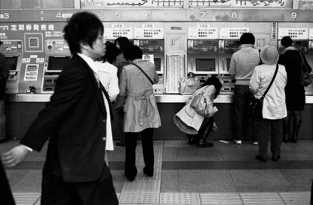 Shinjuku Station<br /> <br /> <br /> Tokyo, Shinjuku<br /> March 2008<br /> <br /> Kodak Tri-X 400, EI 800