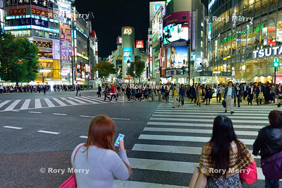 Cell phones in the street...Tokyo