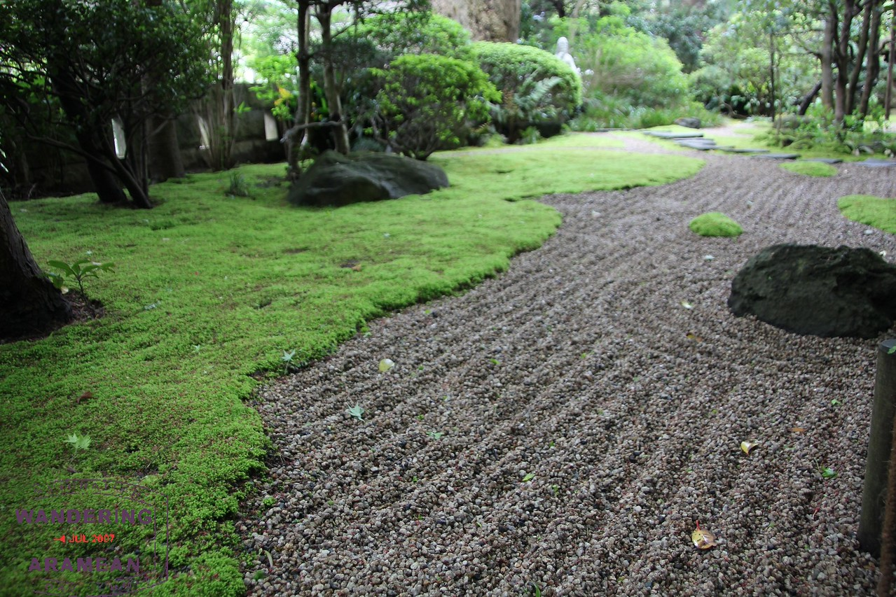 Simple gardens at the Kokokuji Temple