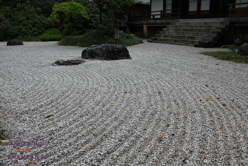 Simple gardens at the Kokokuji Temple