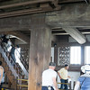 Himeji Castle. The beams. Made without nails.