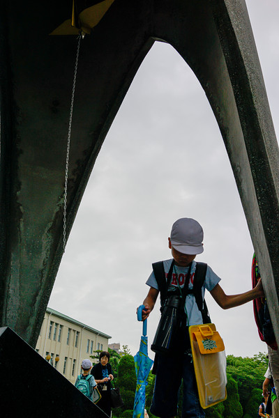 Hiroshima. The Chidren's cranes. The crane bell.