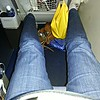"""On the trip home, a Lufthansa """"extra legroom"""" seat -- fantastic!"""