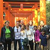 Bike tour on our last stop, in the gates of Fushimi Inara