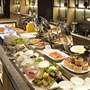 This is about one fourth of the breakfast buffet at our Kyoto hotel. It catered generously to both Western and Asian customs and palates.