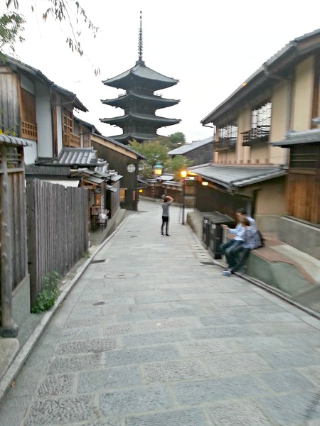 Kyoto street -- did a fair amount of strolling in Kyoto and it is a pleasure.