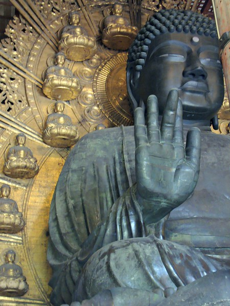 And here is the Great Buddha of Nara. They have an excellent museum nearby, with lots of Buddhas.
