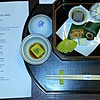 One of two kaiseki dinners at my ryokan. These are two courses out of 13, served sequentially. The first night I ate in the dining room; the 2nd in my room, it takes an hour and a half. The food is wonderful and the experience unique.