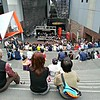 Kyoto Central Station: I found a concert going on in this big, high, public area.