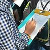 Schoolgirl taking notes