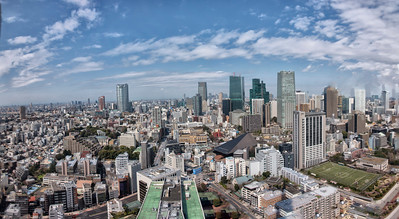 Pano from Tokyo Tower of Rappongi-