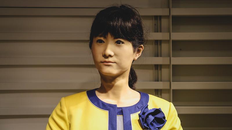Odaiba: where robots take on human form.