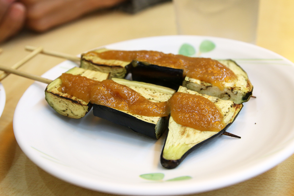 eggplant yakitori X2 For Grilled Meat on Stick, Japanese Have it Figured Out