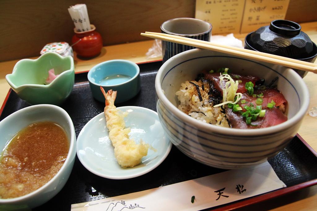 Amazing meal at Tenmatsu, Nhonbashi, Tokyo, Japan