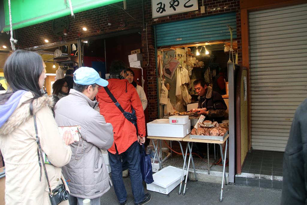 Just outside Tsukiji fish market