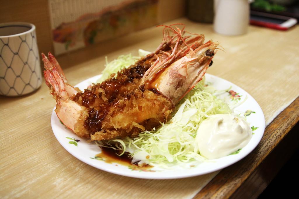 Katsu style jumbo prawns