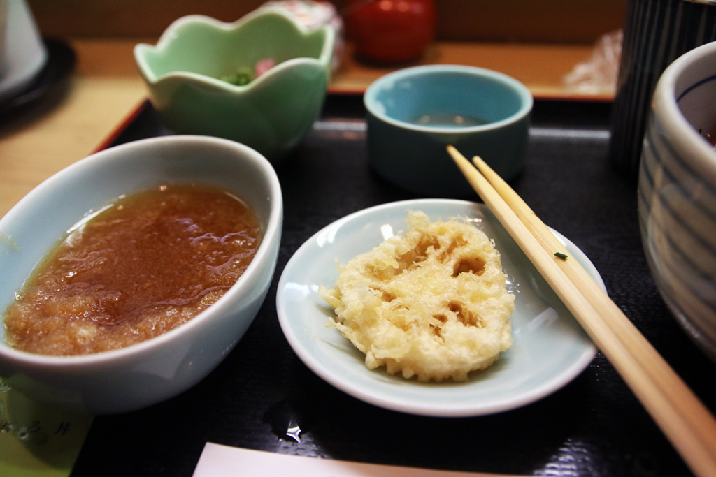 Lotus tempura