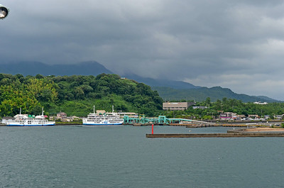 Ferry Landing on Sakurajima Volcano