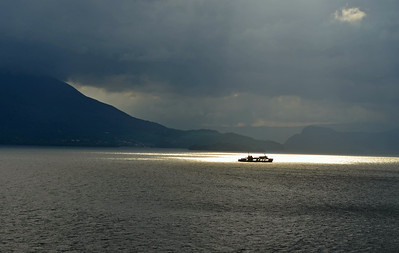 Ferry Boat Caught in Sunlight