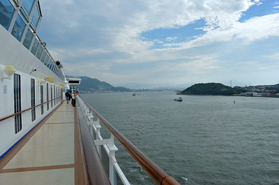 Half Way thru the Straits of Shimonoseki