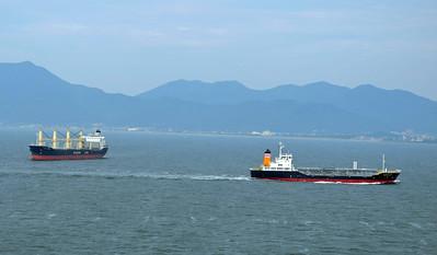 Heavy Shipping near Shimoniseki Straits