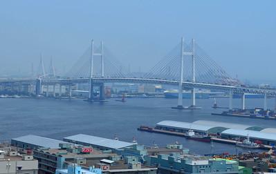 Harbor Bridge in Hazy Distance