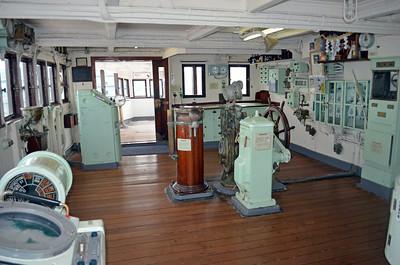 Wheelhouse of the Mikawa Maru