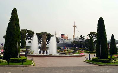 Lovely Park along the Embarkadero of Yokohama