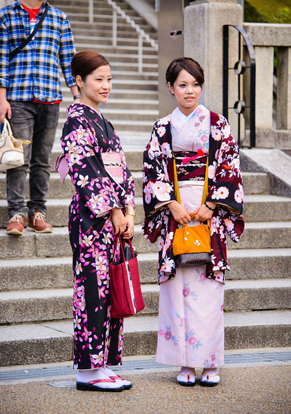 Girls In Their Summer Kimonos (Yukata)