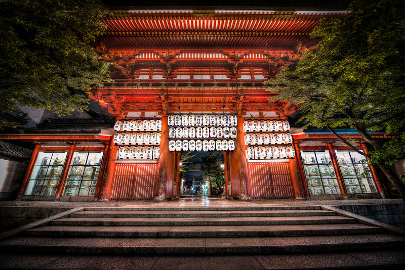 The Gates of The Yasaka Jinja