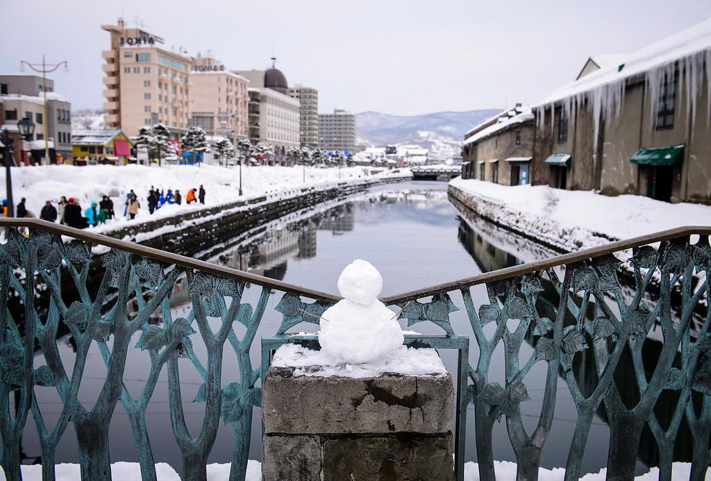 A Lone Micro Snowman on Valentine's