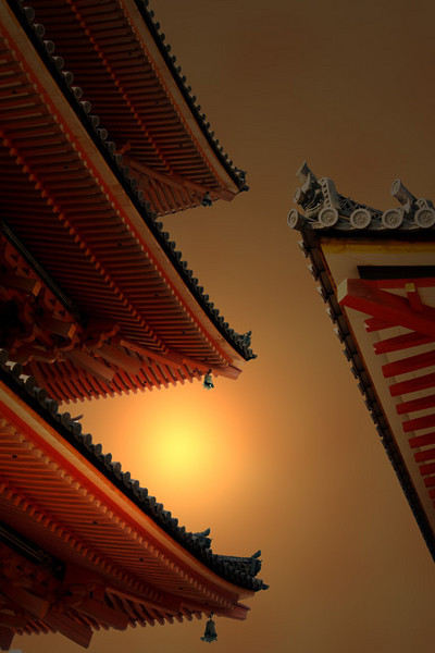 Pagoda Roof Sunset