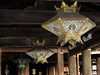 Beautiful lamps in the main hall
