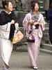 Two young girls in their kimonos