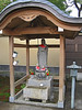 Small shrine at the entrance to Oubai-in. In modern Japan, Jizo is popularly known as the guardian of unborn, aborted, miscarried, and stillborn babies. He also protects travelers on the road