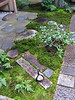 """Paths to the teahouse: the stones with the knotted string indicate that the path is """"closed"""""""
