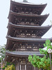 The Five-Story Pagoda was first built in 725 and last rebuilt in 1426. It is the second highest pagoda in Japan (after Toji in Kyoto) with a height of over 50 metres