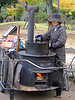 Street vendor on the road to the park and Todaiji