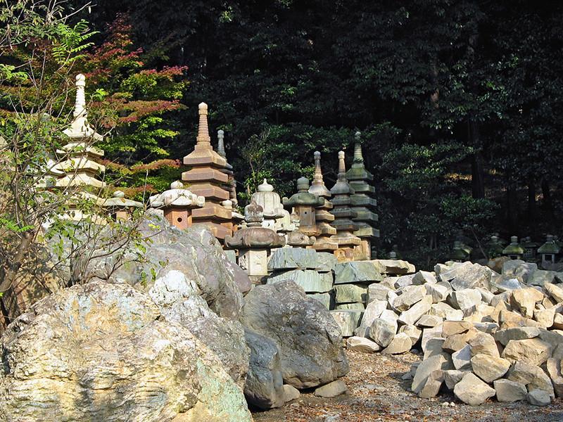 A garden artifacts yard, near Ryoanji