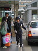 This official, with her white gloves and smart uniform like all the Japan Rail staff we encountered, controlled both the taxis <u>and</u> their passengers