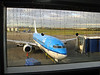 My plane waiting at Edinburgh airport. In Amsterdam I joined Wendy for the long haul to Japan