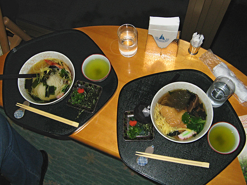Noodles at the cafe in the gardens beside Himeji Castle
