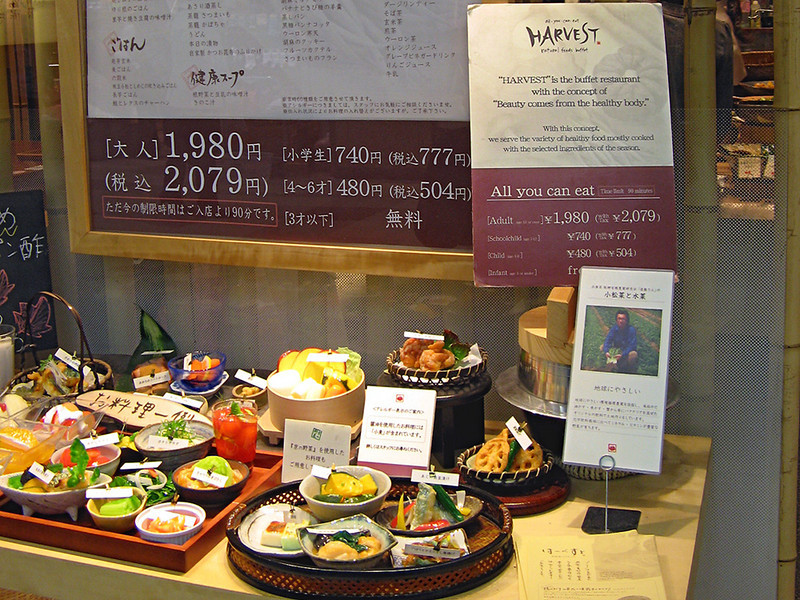 This buffet-style restaurant in the basement of Kyoto station was excellent value