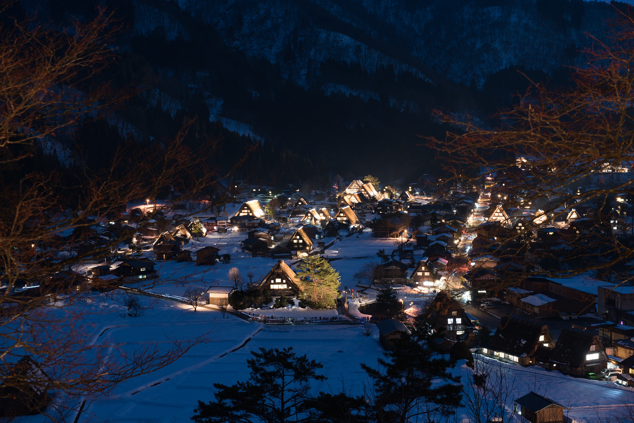 Shirakawa-gō is located in the village of Shirakawa in Gifu Prefecture. It is well known for its houses constructed in the architectural style known as gasshō-zukuri.
