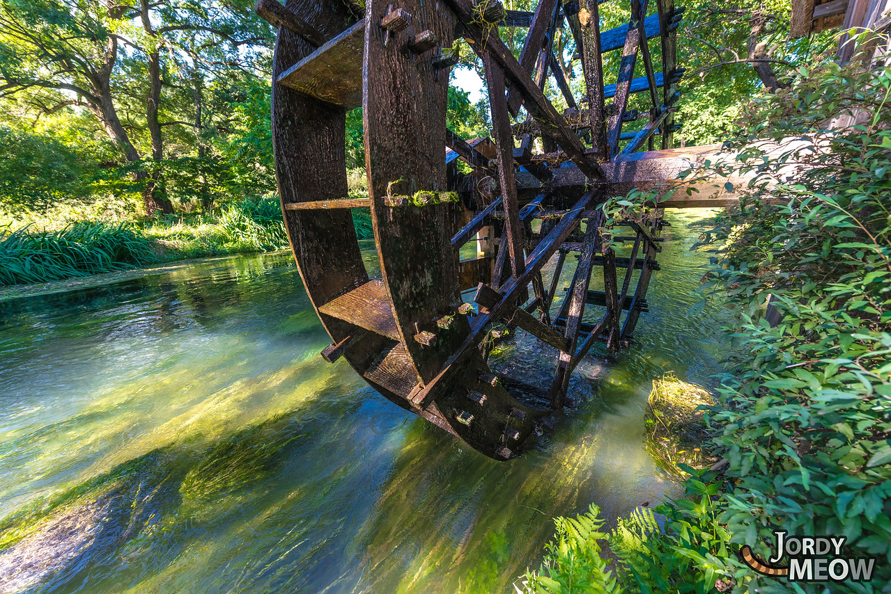 Watermill at the Wasabi Farm