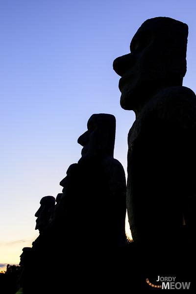 Moai Statues in Hokkaido