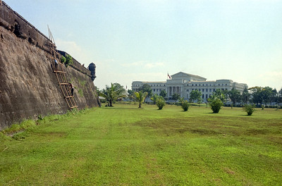 Old Spanish military Citadel, National Assembly in distance, Manila, P.I.-1966