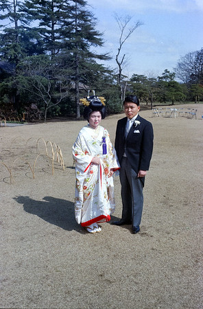 A nice wedding photo of Nanae and Tom Kodaka-Tokyo, 1966