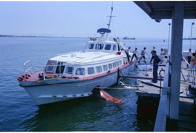 Our Hydrofoil arriving in Macao (??? I may change actual location with more info)