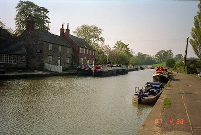 One of the many scenic canals running through the English countryside.  It is possible to rent one's own boat and cruise some of these canals, and many people do just that, especially when vacationing in the summertime.